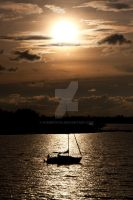 Sailing the sunset by EyeInFocus