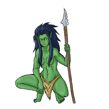 Orc Huntress by Baby-Crow