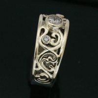 Filligree Wedding Band by Lostwaxoz