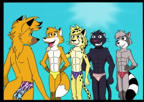 titus and the other underwear models by sprucehammer