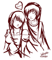 emo couple by strawberry-eater