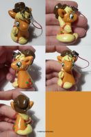 Applejack Charm by ChibiSilverWings