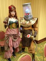 IKKiCON VII - Steampunk Poison Ivy and Mr. Freeze by PamelaIsley