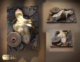 Steampunk ACEO VI Psycho by Diarment