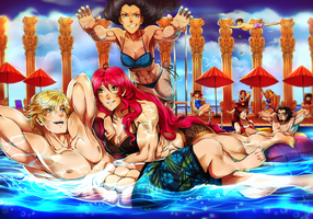 CM| Pool party by AgentWhiteHawk