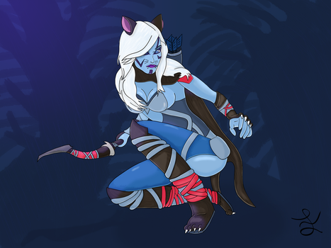 Drow (The Cat) Ranger by FSCP-Crossburn