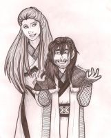 An Elf and a Dwarf by TheBritishGeek