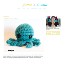 Feather + Lace  Blogger Template by candypow