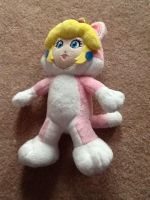 Cat Peach Plush! by PeachandDaisyareCOOL