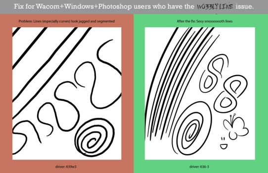 How to fix your Wacom's wobbly lines. by ElsaKroese