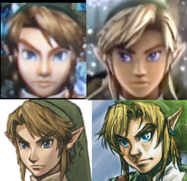 TLoZ: Comparison of Link by isamisa