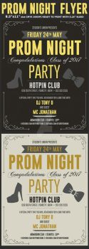 Prom Party Flyer Template by Hotpindesigns
