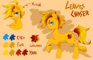 .MLP OC: LeavesChaser Ref. by Kikuri-Tan