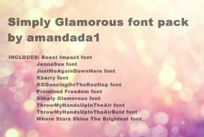 Simply Glamorous font pack by amandada1