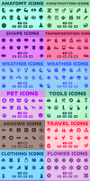Vector Icons Bundle | Glyph Icons - Solid Icon by CURSORCH
