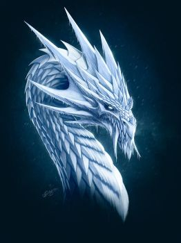 Ice Dragon by Deligaris