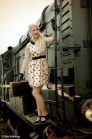 Steam train travel 2 (Marina in fifties style) by pimklabbers