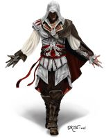 Ezio Assassins Creed by SKM-art