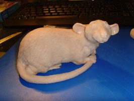 WIP Rat sculpture no 5 by philosophyfox