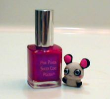 Pink Panda Polish by ExplodingIchigo
