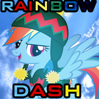 Rainbow Dash Hearth's Warming Eve Icon by TropiusTriforce