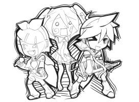 vocaloid chibis by FlabberGhaster