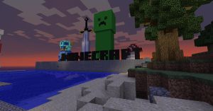 MineCraft: Creeper, sword, etc by cytherina
