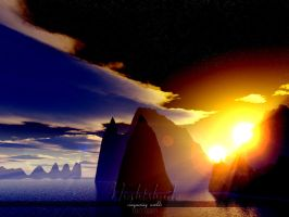 Terragen - Nightshade Two by tigaer