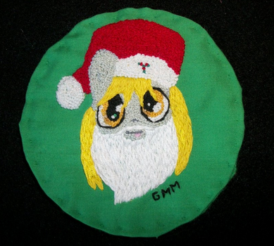 MLP-FIM Hand Embroidered Patch Santa Derpy by grandmoonma