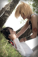 Dino Cavallone and Hibari Kyoya Cosplay Yahoi by Morgana-Moon