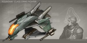 'Fountain'-Class Strike Fighter by MikeDoscher
