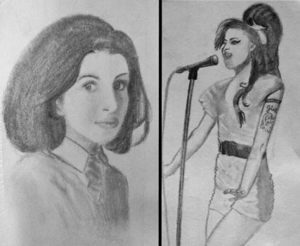 Amy Winehouse contrast by feeleroffeels