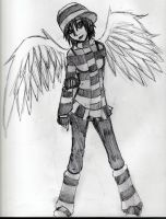 Emo Angel by DementedTragedy