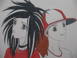 Bill and Tom Kaulitz by angenoirxD