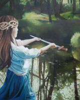 Lady of the Lake- Painting by Lamorien