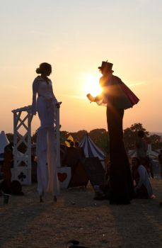 Glastonbury2010- Stilt Walkers by melemel