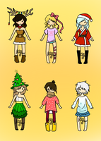 [OPEN] uguu winter adopt set SALE by mintykat