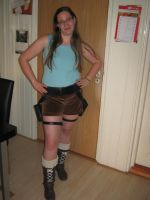 Tombraider cosplay holsters by LadyRafira