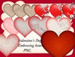 Valentine's Day. Embossing hearts by roula33