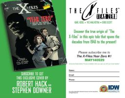 The X-Files: Year Zero order form by RobertHack