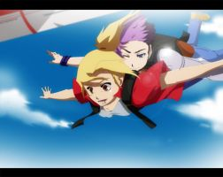 Commission: Sky Diving by annria2002