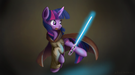 Twilight Sparkle - Jedi by Ailynd