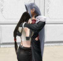 Request Tifa - Sephiroth by nasiamarie88