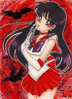 #14 - Sailor Mars (KaKAO / ATC / ACEO) [taken] by Shampie