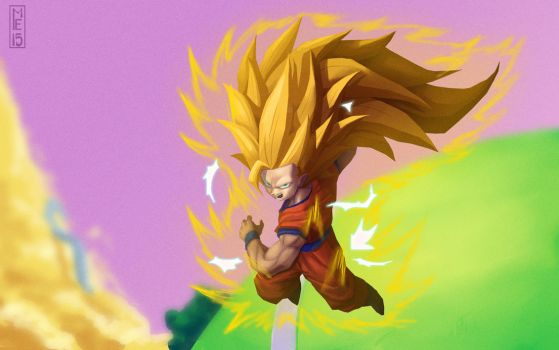 SSJ3 Goku week 1 by mitchellellis