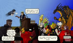 FF7_25th anniversary Ciddies the FF7 finalists by Dragona15