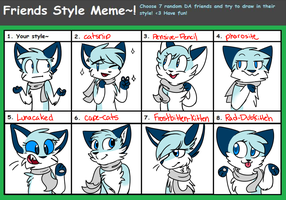 Friend Style Meme!! by Rainy-bleu