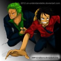 OP: Luffy and Zoro Escape by un-understandable