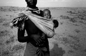 Turkana Mother and Baby by blink-click