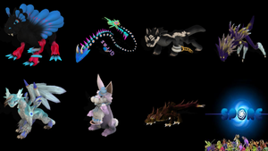 Some Creations I made in Spore by draggydrago
